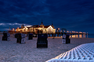 pier Ahlbeck on island of Usedom in Baltic Sea