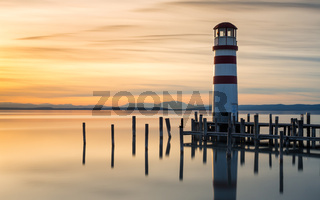 Lighthouse on lake Neusiedlersee in Podersdorf Burgenland