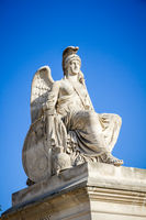 Victorious France statue near the Triumphal Arch of the Carrousel, Paris