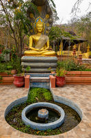 Seated Buddha Statue in Wat Phra That Doi Phra Chan