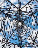Electricity pylon tower details, energy supply