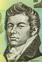 John Macarthur (1767-1834) on 2 Dollars 1966 banknote from Australia. British army officer