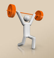 Weightlifting 3D icon, Olympic sports