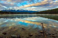 The lake Patricia at sunsise