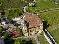 Schloss Cressier, Kanton Neuenburg, Schweiz