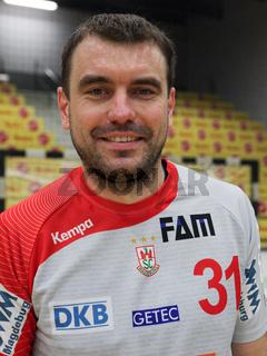 polnischer Handballer Bartosz Jurecki vom SC Magdeburg DHB DKB Handball-Bundesliga Saison 2014-15