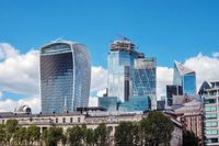 London, United Kingdom - May 12, 2019: London cityscape. financial district skyline, known as bank.