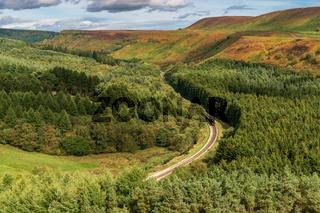 Newtondale, seen from the Levisham Moor, North Yorkshire, England, UK