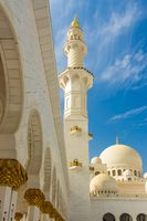 The minaret of Sheikh Zayed Grand Mosque