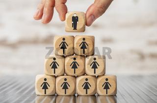 choice between businessman or businesswoman