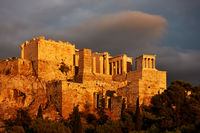 The Acropolis in Athens at sunset