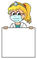 Doctor holding blank panel topic image 2