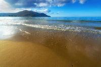 Sandy Beach With Blue Sky In Crete, Greece