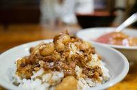 Chinese braised pork on rice