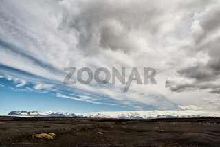 Desert and mountains in Iceland