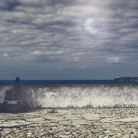 Portuguese fortress Sagres on the Atlantic Ocean beach