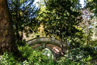 Bridge in Parc Monceau, Paris, France