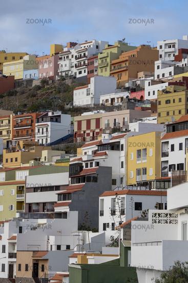 Houses on the Slope above San Sebastiàn Center - La Gomera