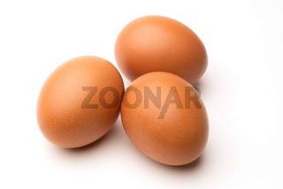 Braune Eier freigestellt
