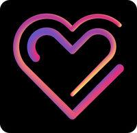 Two heart gradient liquid icon. 2 in love icon, symbol, illustration design.