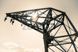 Old crane in the port of Valencia, Spain