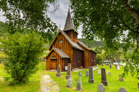 Old Wooden Norwegian stave church