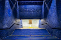 blue staircase of anguk station