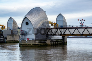 View of the Thames Barrier