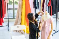 Fashion designer owner working