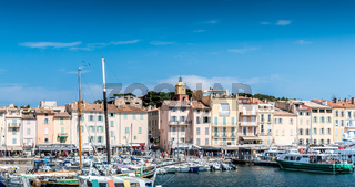 Saint-Tropez and its fishing port and its yachts
