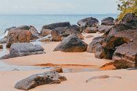 masoala beach with big stones, Madagascar