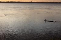 Fisherman  on Mekong river