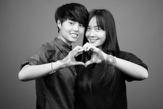 Young Asian lesbian couple together and in love
