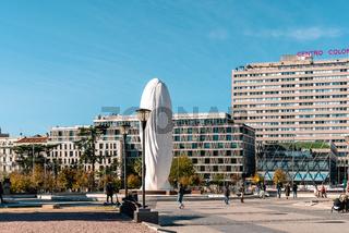 Plaza de Colon or Columbus Square in central Madrid