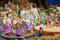 Christmas Belen -  Statuettes of people and houses
