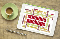 stimulus package during coronavirus pandemic word cloud