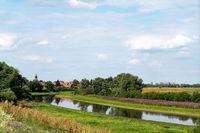 Blick auf Schnackenburg an der Elbe