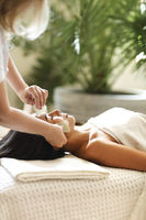Face massage or beauty treatment in spa salon. Face massage or beauty treatment in spa salon