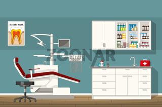 Illustration of a dentist room