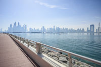 Panoramic view of Dubai, UAE. Clear day March 13, 2020