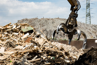 Altholzaufbereitung für ein Biomasse Kraftwerk