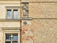 berlin, deutschland  - 23.04.2019 - historische hausfassade in berlin-mitte