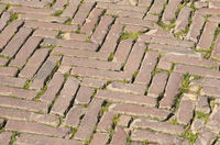 Pflaster in San Gimignano, Toskana, Italien -Paving in San Gimignano, Tuscany, Italy