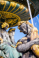 Fountain of the Seas detail, Concorde Square, Paris