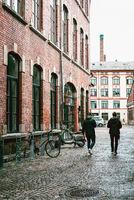 Street scene in Grunerlokka, a trendy quarter in Oslo