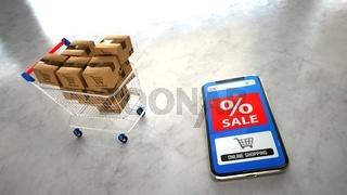 Smartphone Sale Online Shopping Cart