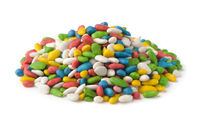 Pile of colorful sugar glazed sunflower seeds