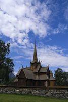 Stave church in Lom