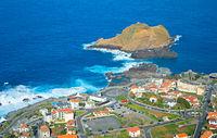 Porto Moniz Aerial view Madeira