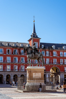 The Plaza Mayor or Main Square of Madrid